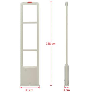 vidaXL RF antenos sistema su žymekliais, 8,2 MHz, balta[8/16]