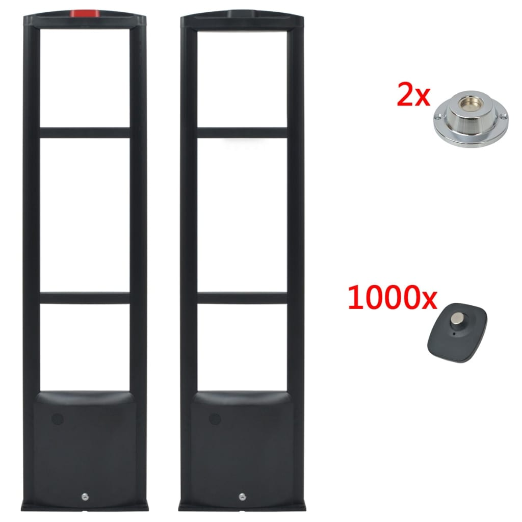 RF systém + pevné etikety a uvolňovače etiket 8,2MHz černá