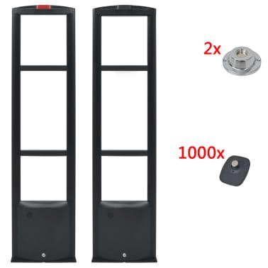 vidaXL RF-antennesystem med alarmbrikker og alarmbrikfjernere 8,2 MHz sort[1/16]