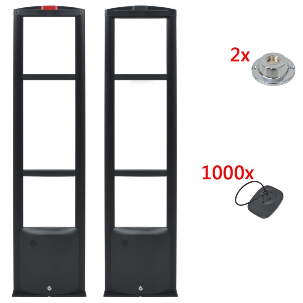 RF systém + pevné etikety a uvolňovače etiket 8,2 MHz černý