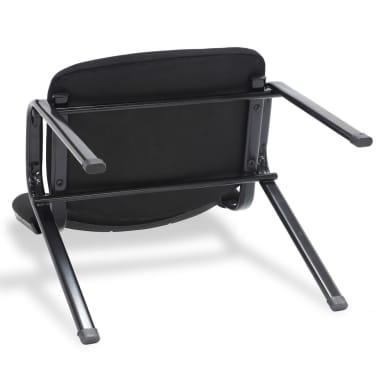 vidaXL Sukraunamos viena ant kitos biuro kėdės, 12vnt., audinys, juod.[4/6]