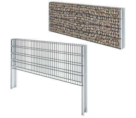 vidaxl doppelstabmattenzaun gabionenzaun set 2008 x 830 mm 4 m grau g nstig kaufen. Black Bedroom Furniture Sets. Home Design Ideas
