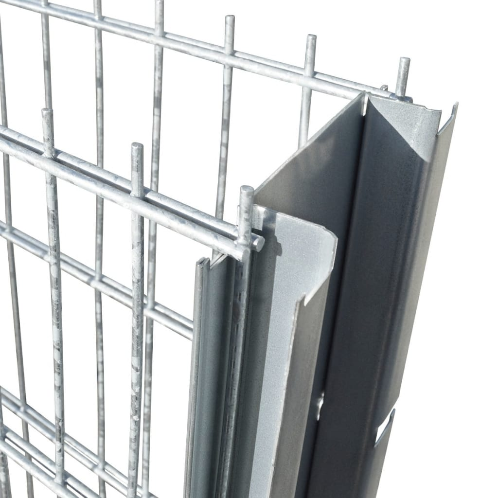 vidaXL Schanskorf dubbelstaafmat 2,008x0,83m 14m (lengte) staal zilver