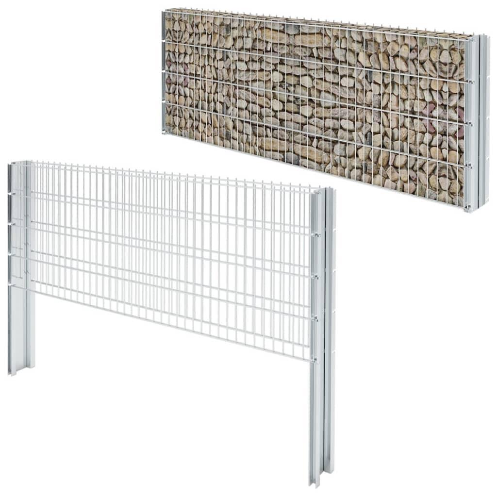 vidaXL 2D gabionový plot set 2008x830 mm, 14 m, pozinkovaný