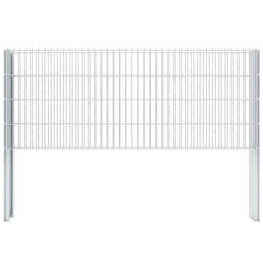 vidaxl 2d schanskorf muur 2008x830 mm 20 m gegalvaniseerd. Black Bedroom Furniture Sets. Home Design Ideas