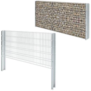 vidaxl doppelstabmattenzaun gabionenzaun set 2008x1030 mm 4 m verzinkt g nstig kaufen. Black Bedroom Furniture Sets. Home Design Ideas