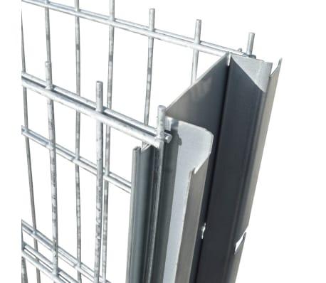 vidaxl doppelstabmattenzaun gabionenzaun set 2008x1030 mm 6 m verzinkt g nstig kaufen. Black Bedroom Furniture Sets. Home Design Ideas