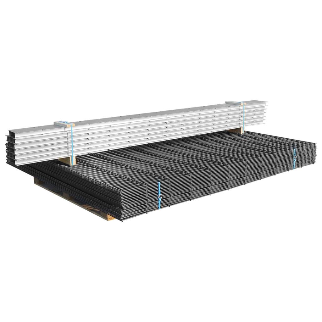 vidaXL Schanskorf dubbelstaafmat 2,008x1,63 m 4 m (lengte) staal grijs
