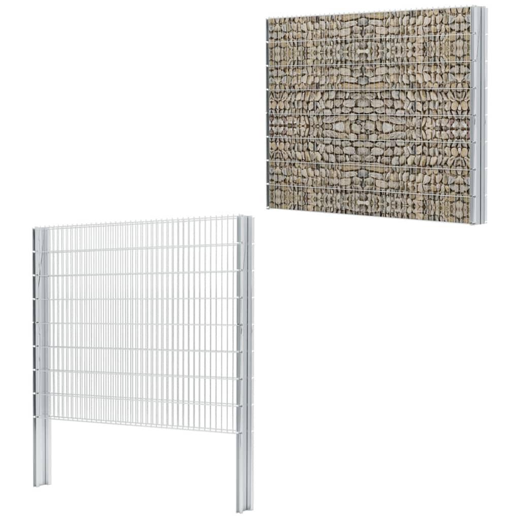 vidaXL 2D gabionový plot set 2008x1630 mm, 20 m, pozinkovaný