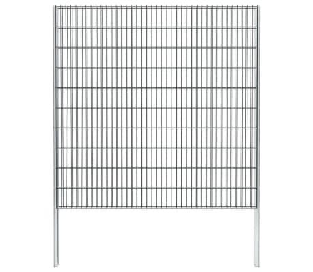 vidaXL 2D gabionhegn galvaniseret stål 2008 x 2030 mm 2 m grå