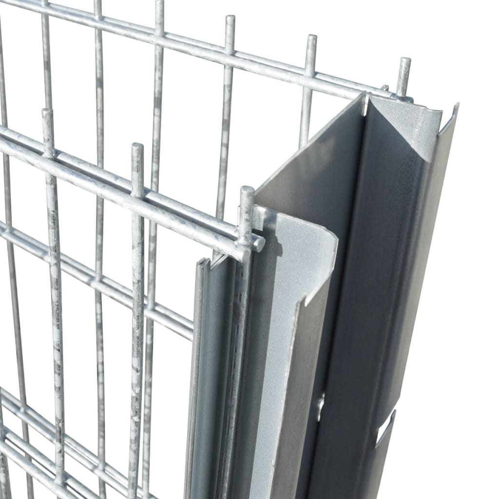 vidaXL Schanskorf dubbelstaafmat 2,008x2,03 m 6m (lengte) staal zilver