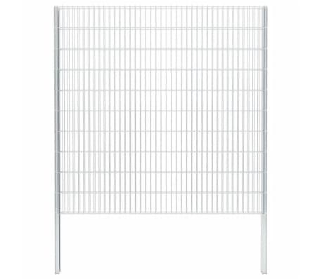 vidaXL Gabionenzaun Stahl Verzinkt 2,008x2,03 m Gesamtlänge 10 m
