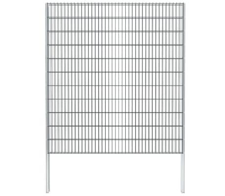 vidaXL 2D gabionhegn galvaniseret stål 2008 x 2230 mm 2 m grå