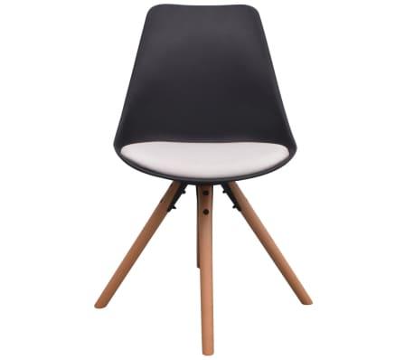 vidaXL Blagovaonske stolice od umjetne kože 6 kom crno-bijele[3/6]