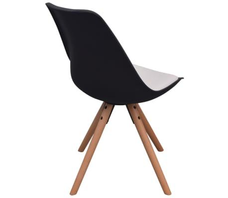 vidaXL Blagovaonske stolice od umjetne kože 6 kom crno-bijele[4/6]
