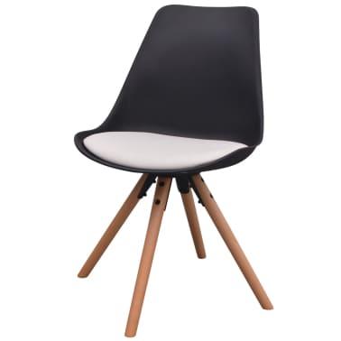 vidaXL Blagovaonske stolice od umjetne kože 6 kom crno-bijele[2/6]