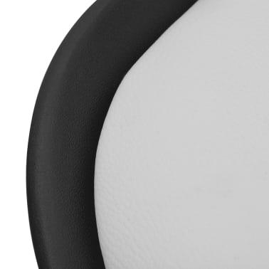 vidaXL Blagovaonske stolice od umjetne kože 6 kom crno-bijele[5/6]