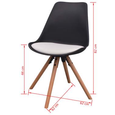 vidaXL Blagovaonske stolice od umjetne kože 6 kom crno-bijele[6/6]