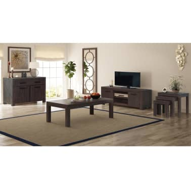 Vidaxl 6 Piece Living Room Furniture Set Solid Acacia Wood
