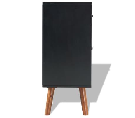 vidaXL Svetainės baldų komplektas, 4d., masyvi akacijos mediena[12/24]