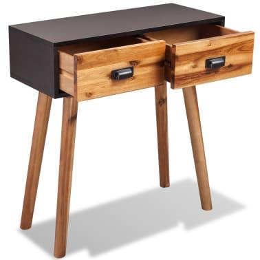 vidaXL Svetainės baldų komplektas, 4d., masyvi akacijos mediena[9/24]