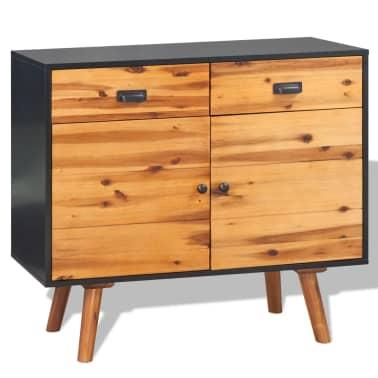 vidaXL Svetainės baldų komplektas, 4d., masyvi akacijos mediena[11/24]