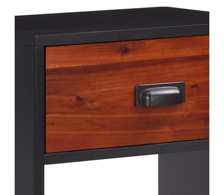 vidaXL Miegamojo baldų komplektas, 4d., akacijos mediena, 140x200cm[12/17]