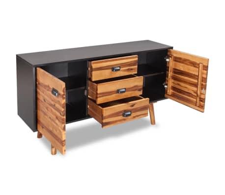 vidaXL Miegamojo baldų komplektas, 4d., akacijos mediena, 140x200cm[16/17]