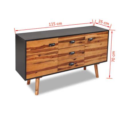 vidaXL Miegamojo baldų komplektas, 4d., akacijos mediena, 140x200cm[17/17]