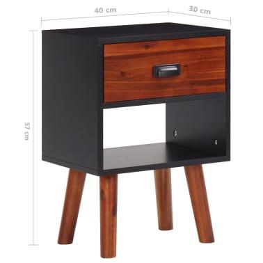 vidaXL Miegamojo baldų komplektas, 4d., akacijos mediena, 140x200cm[13/17]
