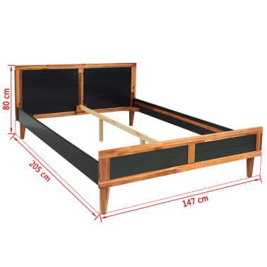 vidaXL Miegamojo baldų komplektas, 4d., akacijos mediena, 140x200cm[8/17]