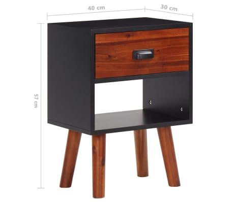 vidaXL Miegamojo baldų komplektas, 4d., akacijos mediena, 180x200cm[13/17]