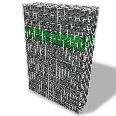 vidaXL Градински комплект габион кошница, стъклени камъни и LED лампа[1/25]
