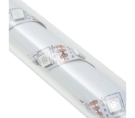 vidaXL Градински комплект габион кошница, стъклени камъни и LED лампа[15/25]