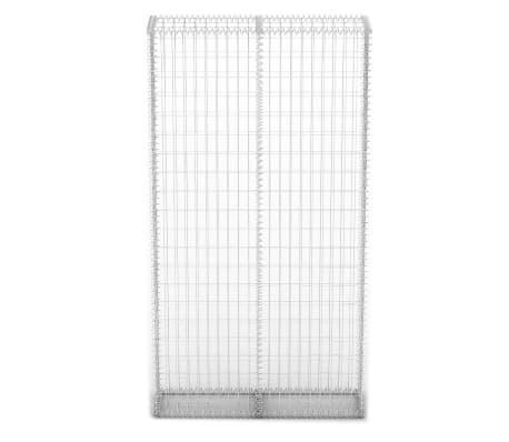 vidaXL Градински комплект габион кошница, стъклени камъни и LED лампа[5/25]