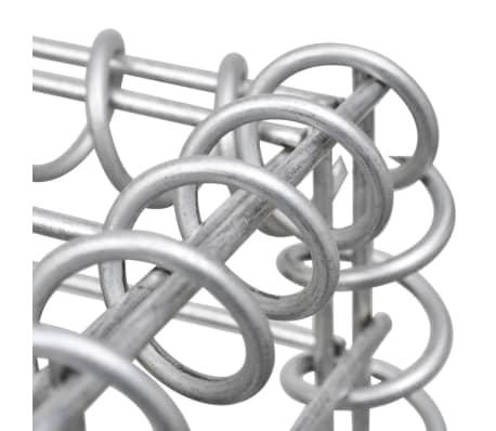 vidaXL Градински комплект габион кошница, стъклени камъни и LED лампа[6/25]