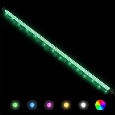 vidaXL Градински комплект габион кошница, стъклени камъни и LED лампа[17/25]