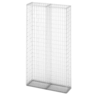 vidaXL Градински комплект габион кошница, стъклени камъни и LED лампа[4/25]