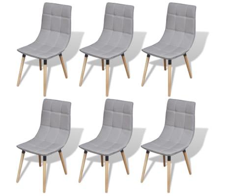 vidaxl esszimmerst hle 6 stk hellgrau 244152 244153. Black Bedroom Furniture Sets. Home Design Ideas