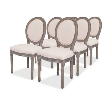 vidaXL spisebordsstole 6 stk. stof cremefarvet