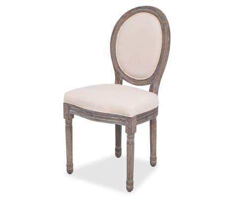 vidaxl esszimmerst hle 6 stk leinenbezug g nstig kaufen. Black Bedroom Furniture Sets. Home Design Ideas