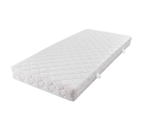 vidaxl doppelbett mit matratze kunstleder wei 180x200 cm g nstig kaufen. Black Bedroom Furniture Sets. Home Design Ideas