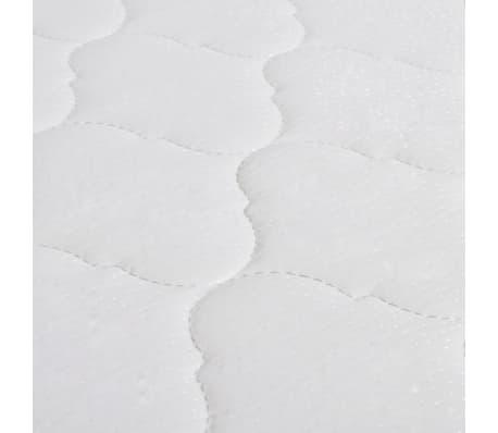 acheter vidaxl lit avec matelas 180 x 200 cm rond cuir artificiel noir pas cher. Black Bedroom Furniture Sets. Home Design Ideas