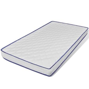 vidaxl einzelbett mit memory matratze metall grau 90x200. Black Bedroom Furniture Sets. Home Design Ideas