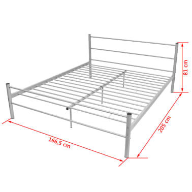 vidaxl doppelbett mit memory matratze metall grau 160x200 cm g nstig kaufen. Black Bedroom Furniture Sets. Home Design Ideas