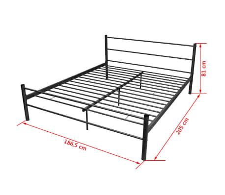 vidaxl doppelbett mit memory matratze metall schwarz 180x200 cm g nstig kaufen. Black Bedroom Furniture Sets. Home Design Ideas