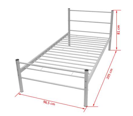 vidaxl einzelbett mit matratze metall grau 90x200 cm. Black Bedroom Furniture Sets. Home Design Ideas