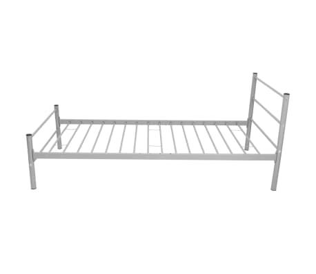 vidaxl einzelbett mit matratze metall grau 90x200 cm g nstig kaufen. Black Bedroom Furniture Sets. Home Design Ideas