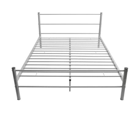 vidaxl doppelbett mit matratze metall grau 140x200 cm g nstig kaufen. Black Bedroom Furniture Sets. Home Design Ideas