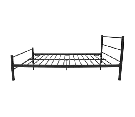 vidaxl doppelbett mit matratze metall schwarz 140x200 cm. Black Bedroom Furniture Sets. Home Design Ideas